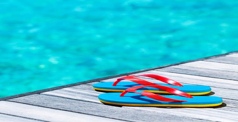 Beach vacation concept