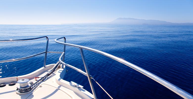 Cruise boat on the sea